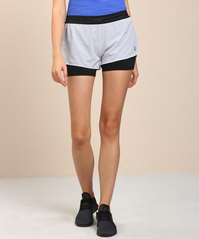 REEBOK Solid Women Grey Sports Shorts