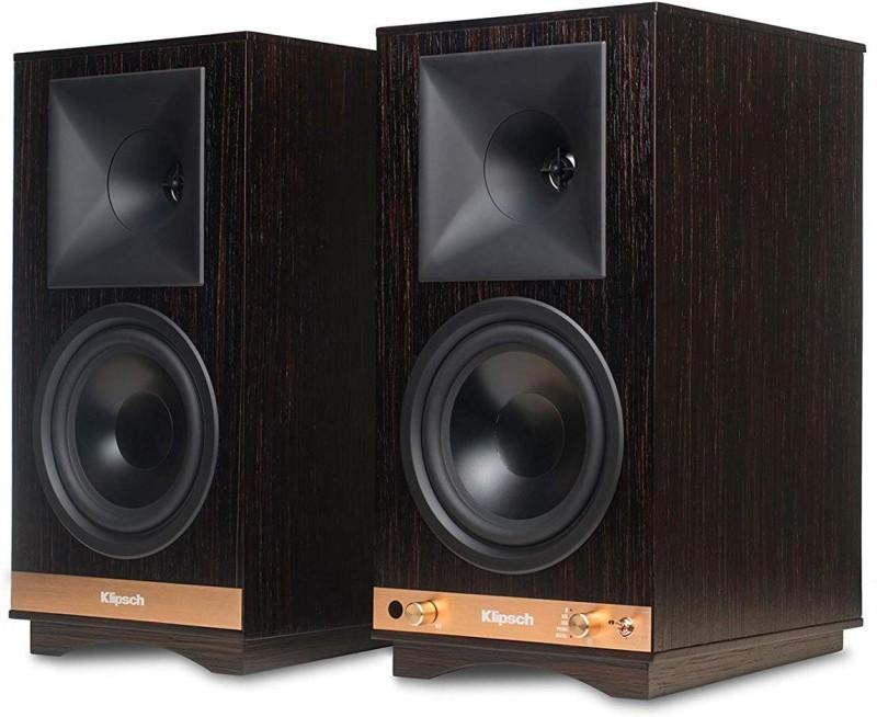 Klipsch The Sixes Powered Bookshelf Speakers With Bluetooth 100 W Bluetooth Home Audio Speaker(Walnut, 2.0 Channel)