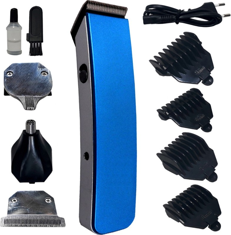 JM 4 in1 Electric Waterproof Rechargeable Wet & Dry Nose Ear Beard Mustache Hair Clipper Hair Trimmer Shaver Cutter Cleaner Sideburns Clipper Grooming Set Runtime: 40 min Trimmer for Men(Multicolor)