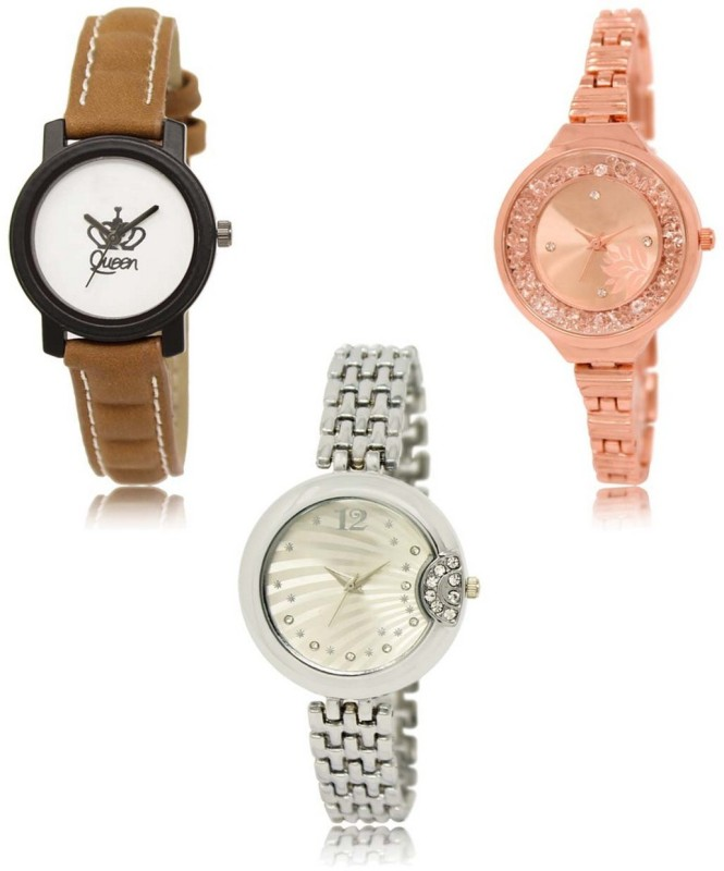 Talgo LR-209-225-230 Premium Quality Collection Latest Set of 3 Stylish Attractive Professional Designer Combo Analog Watch  - For Women