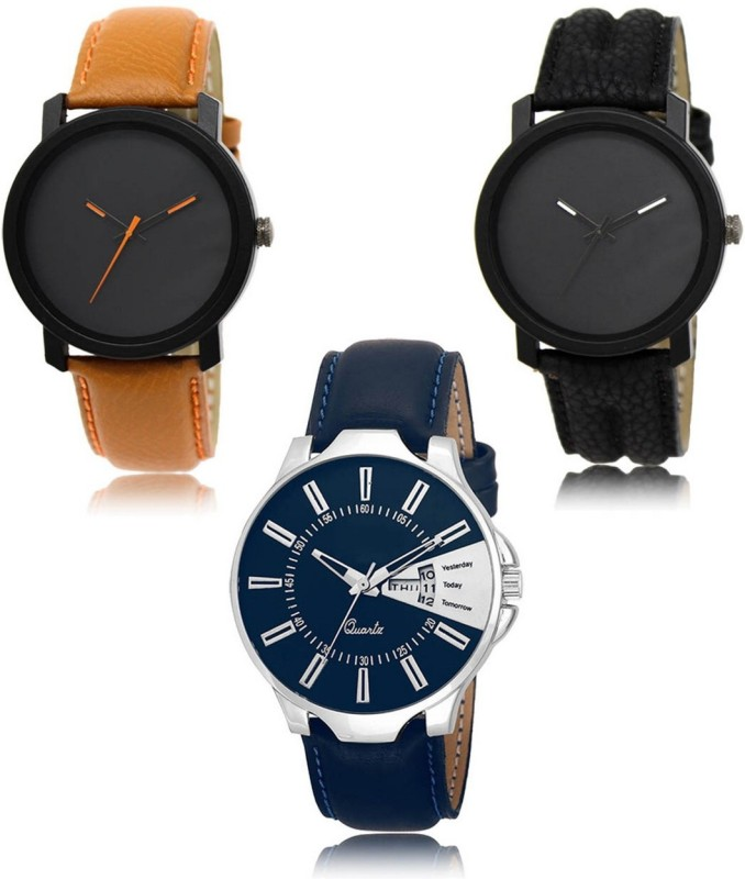 Stylexa SX-20-21-23 High Quality Hot Selling Collection Latest Pack of 3 Exclusive Premium Designer Combo Analog Watch  - For Men