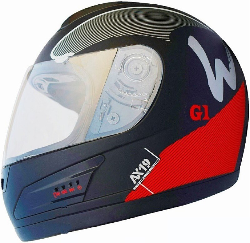 Greenstone GREEN STONE G1 SPEED Design BLUETOOTH HELMET With Upgraded version Motorbike Helmet(Red, Black)