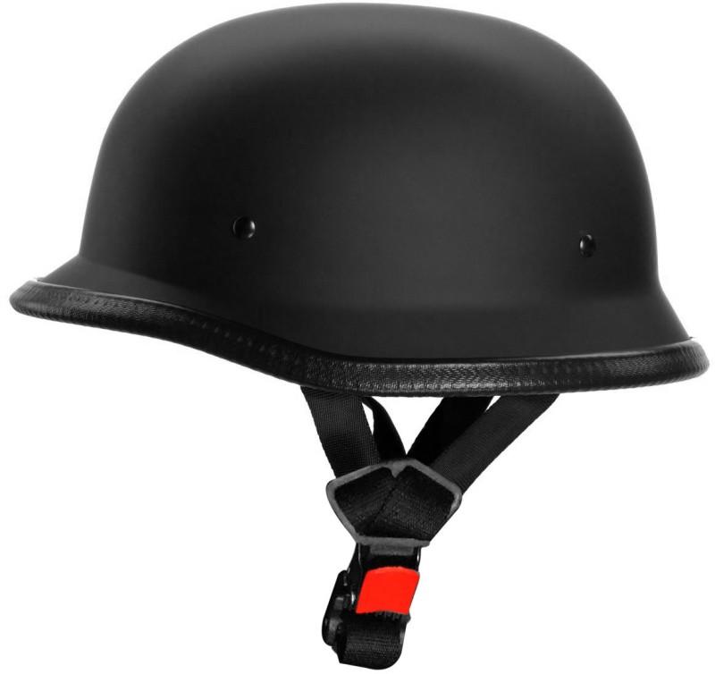 Shoolin German Retro Style Matte Black Half Helmet World War Inspired For Bike Rider Motorbike Helmet(Matte Black)