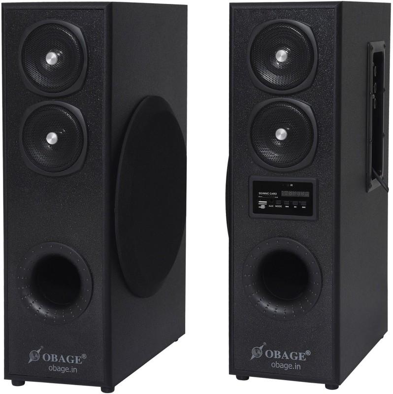 Obage DT 2425 70 W Bluetooth Tower Speaker(Black, 2.0 Channel)