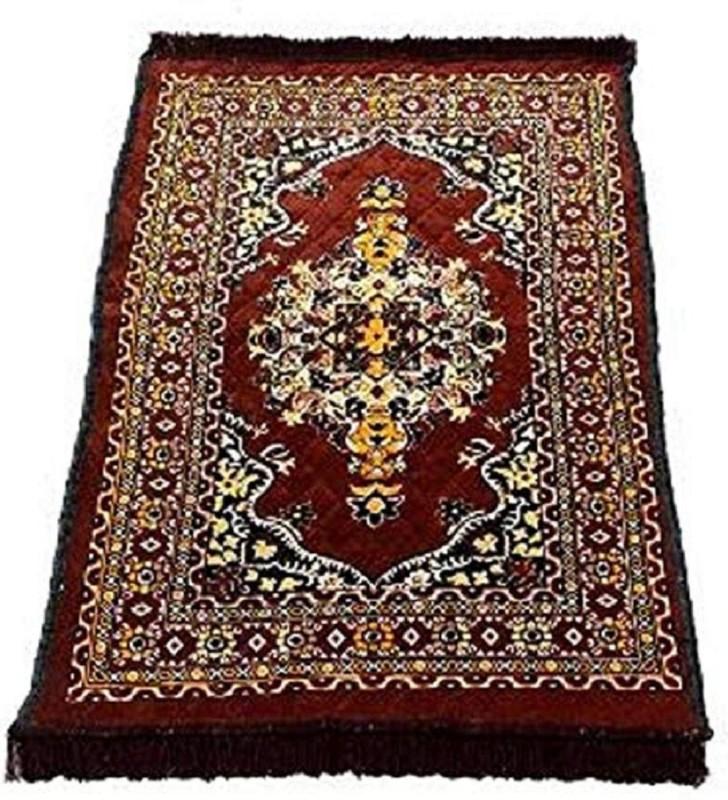Luxury Crafts Velvet Prayer Mat(Coffee, Large)
