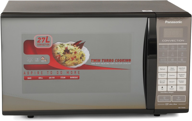 Panasonic 27 L Convection Microwave Oven(NN-CT64HBFDG, Black Mirror)