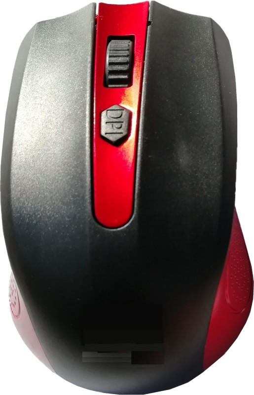 LipiWorld High Sensitivity 2.4ghz 1600dpi Optical Wireless Mouse(Red) Wireless Optical Mouse(USB 2.0, Black)