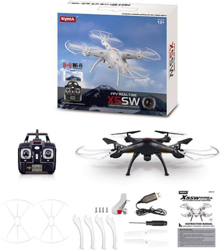 Civil Syma X5SW Wifi FPV Explorers 2.4Ghz 4CH RC Quadcopter Drone HD Camera (Multicolor)(Multicolor)
