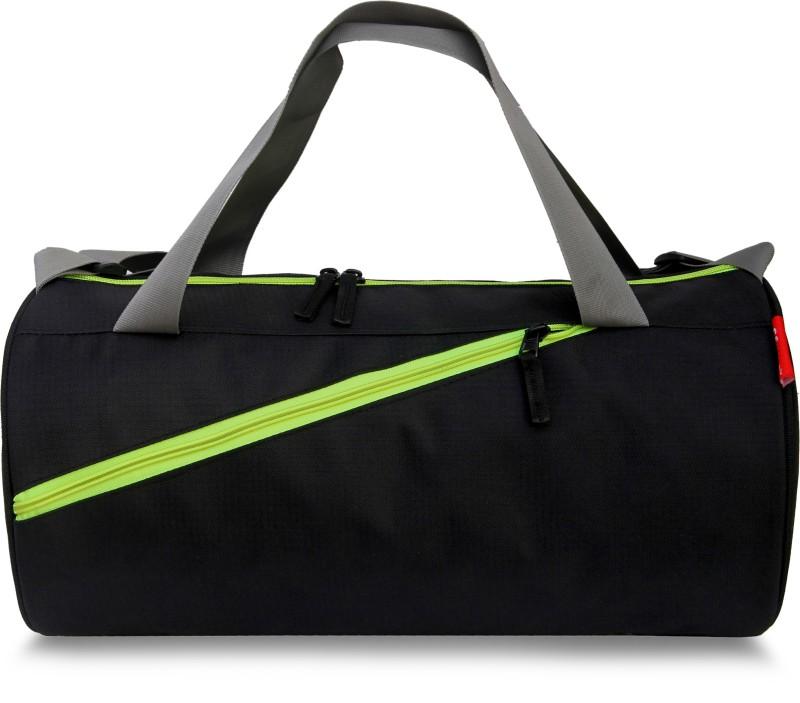 sfane Trendy Men & Women Neon Black Sports Duffel Gym Bag(Neon, Black)