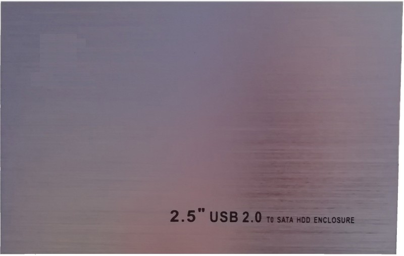 "LipiWorld Hard Disk Drive Enclosure External Case 2.5 inch HDD Case External USB 2.0 SATA 2.5"" inch SATA(For HDD Case External USB 2.0 SATA 2.5"" inch SATA Hard Disk Drive Enclosure External Case, Silver)"