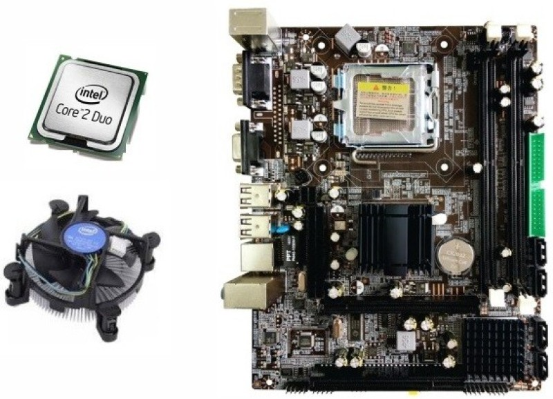 Zebronics CORE 2 DUO E7500 Combo Motherboard(DARK BROWN)