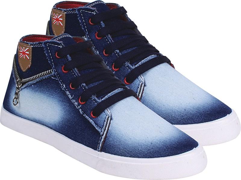 My Cool Step Blue Denim Men's Sneakers Shoes Canvas Shoes For Men(Blue)