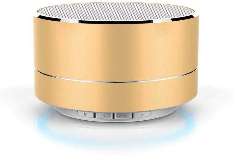 Fedus Wireless Bluetooth Speakers With SD memory card FM&USB slot 6 W Bluetooth Speaker(Gold, Stereo Channel)