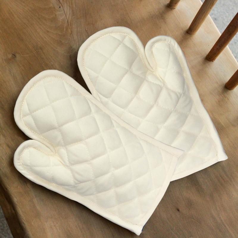 Lushomes White Cotton Kitchen Linen Set(Pack of 2)