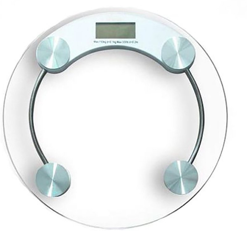 Zolico Digi 2003A Personal Health Body Weight Bathroom Machine 8mm Thick Round Transparent Glass Weighing Scale(White)