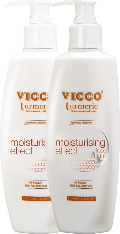 Vicco Body Lotion/Moisturiser(Turmeric Skin Cream in Oil Base)-300g(600 g)