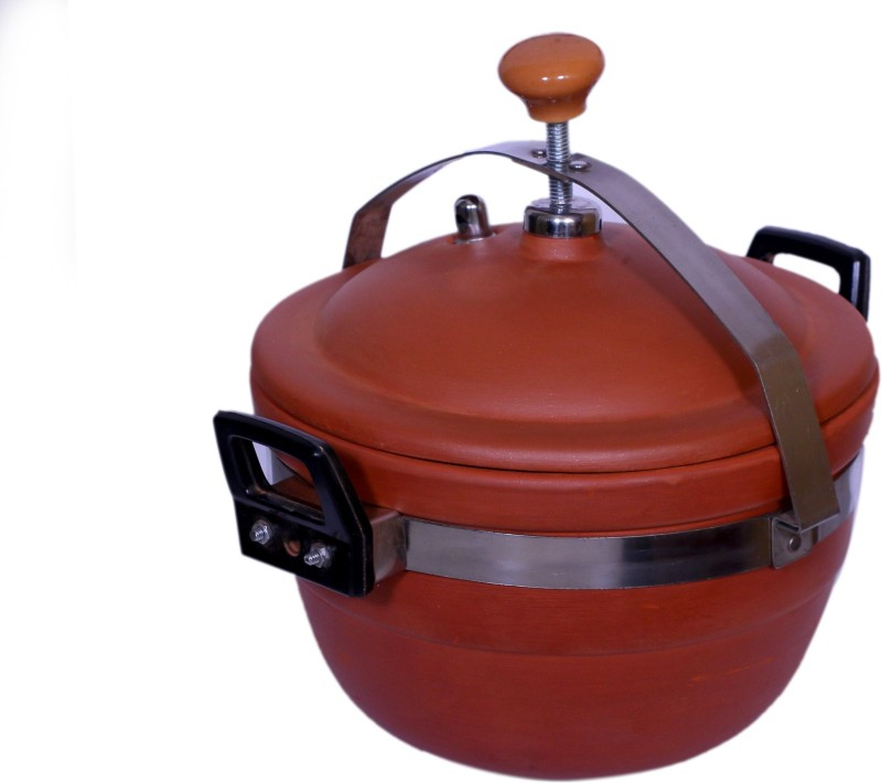 paramhans Terracotta Clay Cooker 3 L Pressure Cooker(Clay)