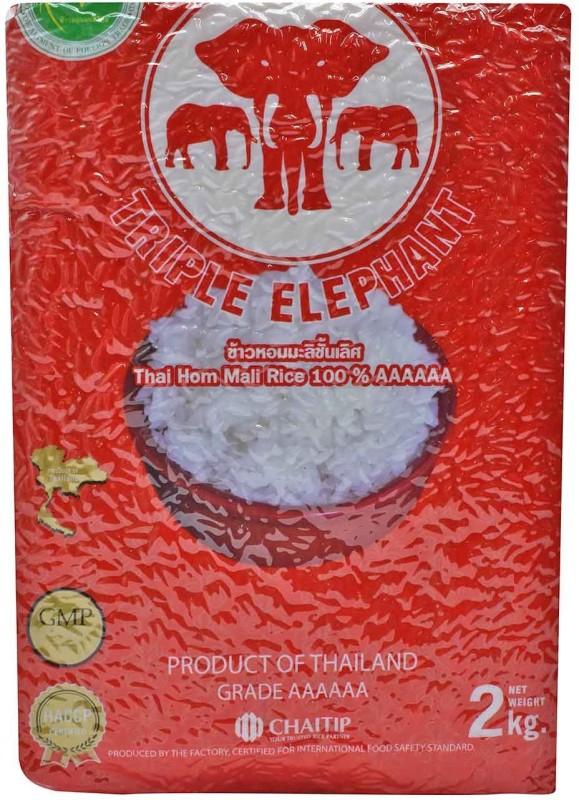 Triple Elephant AAAAAA Thai Hom Mali Rice 100% Rice(2 kg)