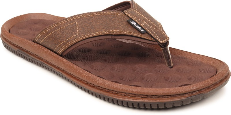 Bata Men Brown Flats
