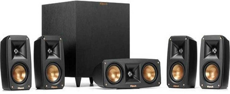 Klipsch Reference Theater Pack 5.1-channel Home Theater Speaker System With Wireless Powered Subwoofer 325 W Bluetooth Home Audio Speaker(Black, 5.1 Channel)