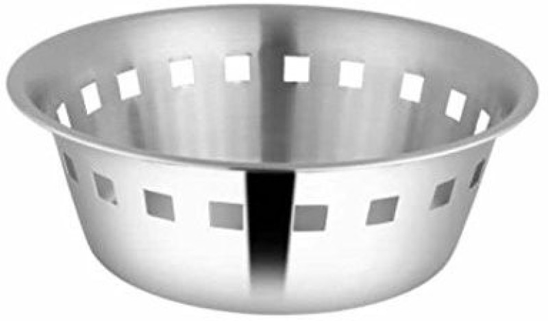 Shri & Sam Stainless Steel Bread Basket(Silver)