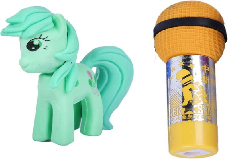 AutoVHPR Set of 2 Cute Mare & Yellow Mike Pencil Eraser for School Children Non-Toxic Eraser(Set of 2, Multicolor)