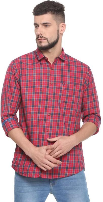 Allen Solly Men Checkered Casual Red Shirt