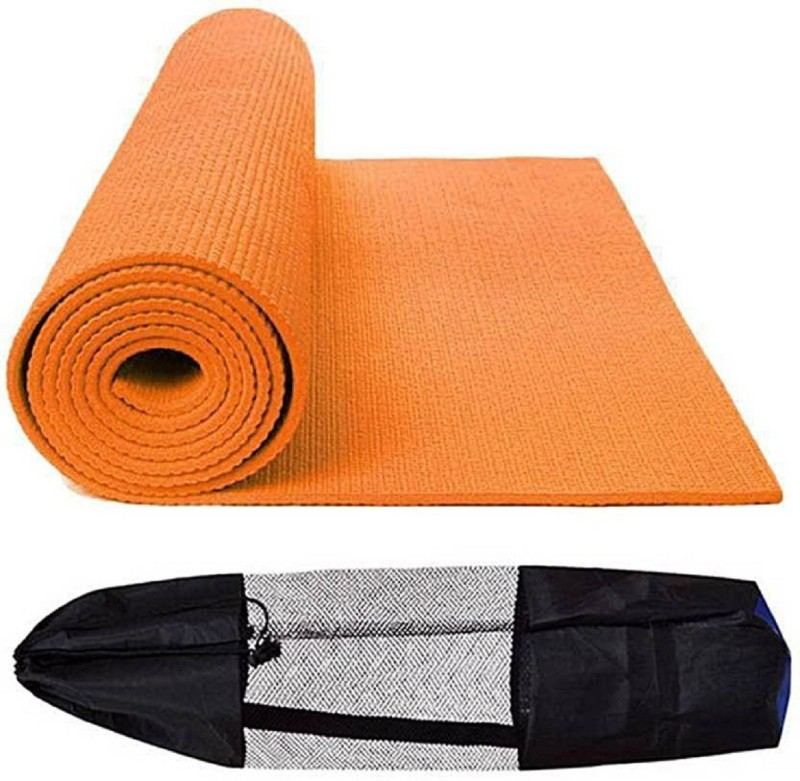 Quick Shel 6MM 100%EVA Eco Friendly Mat ORANGE 6mm Yoga, Exercise & Gym Mat With Bag Orange 6 mm Yoga Mat