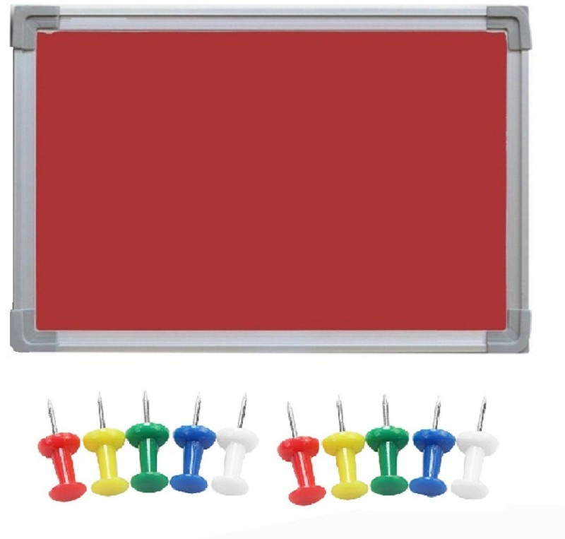 JAGMONI Regular Non magnetic Fabric Small Whiteboards and Duster Combos(Set of 1, Red)