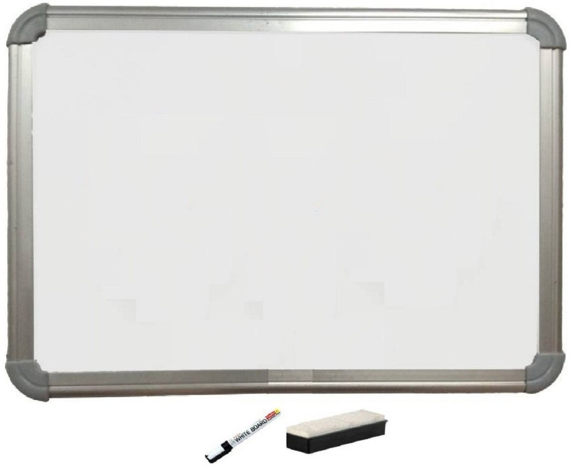 MP MART Non Magnetic Non magnetic Melamine Small Whiteboards and Duster Combos(Set of 1, White)