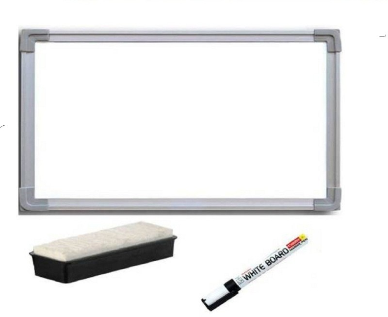 JAGMONI Non Magnetic Non magnetic Melamine Small Whiteboards and Duster Combos(Set of 1, White)