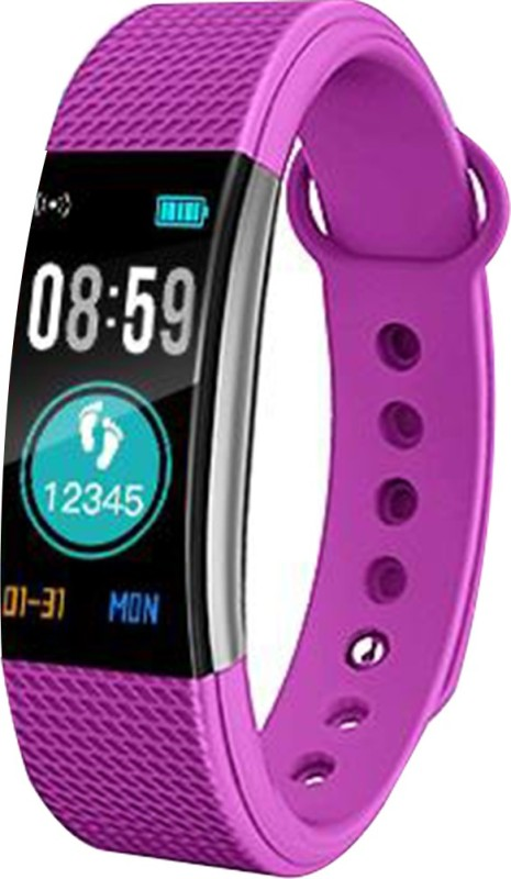 Bingo F0s smart band attractive color display(Purple Strap, Size : normal)