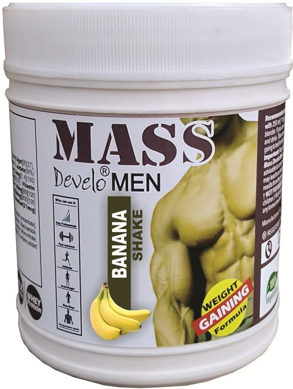 DEVELO MASS MEN'S/BOYS' Weight Gainers/Mass Gainers(500 g, BANANA)