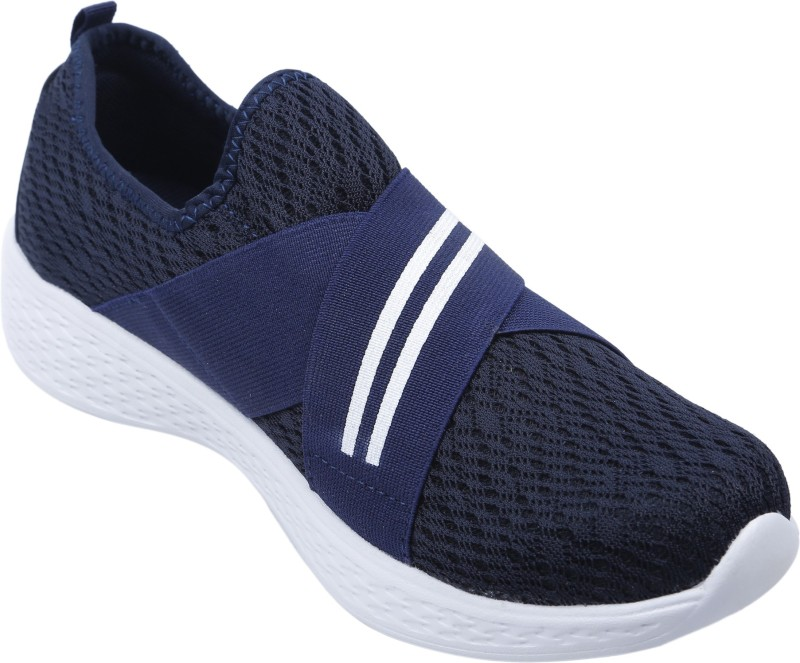 Welcome Eco Sport Mesh Material Shoes For Women (Size-5) Slip On Sneakers For Women(Navy)