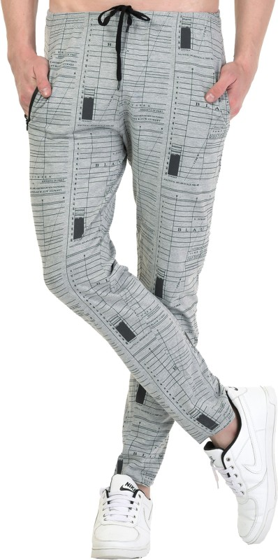 SHAUN Printed Men Grey Track Pants