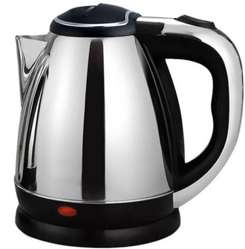 Amazingpoint Hot Water Pot Portable Boiler Tea Coffee Warmer Heater Cordless Electric Kettle(2, Silver)