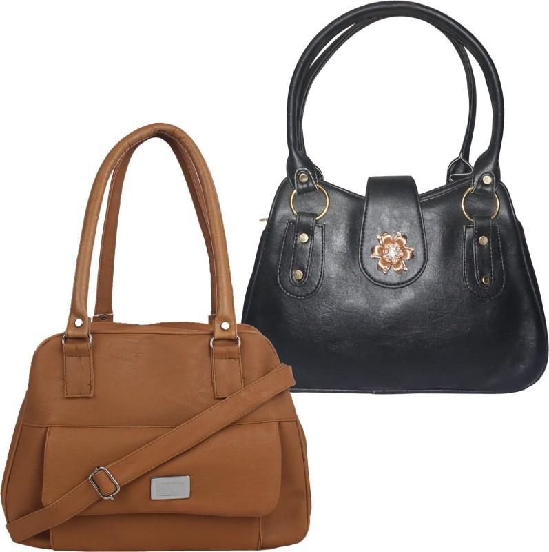 Fillincart Women Brown, Black Hand-held Bag