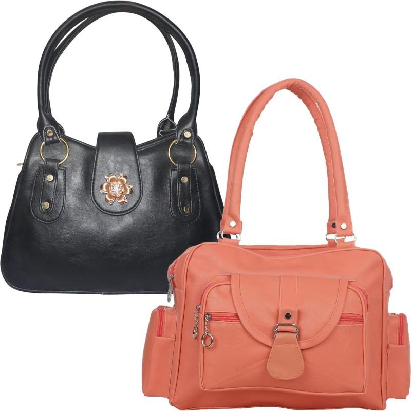 Fillincart Women Black, Orange Hand-held Bag