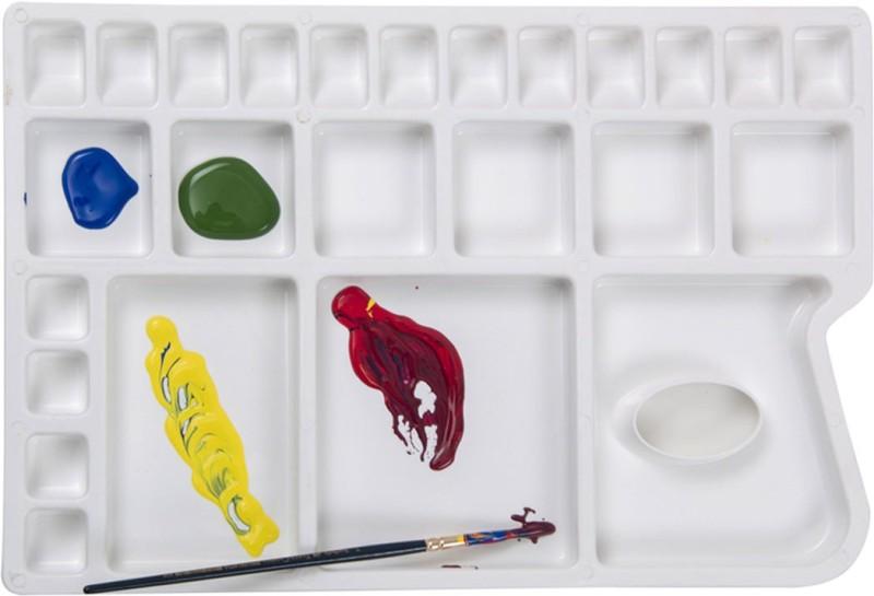 Isomars Plastic 25 Paint Wells Palettes(Set of 1, White)