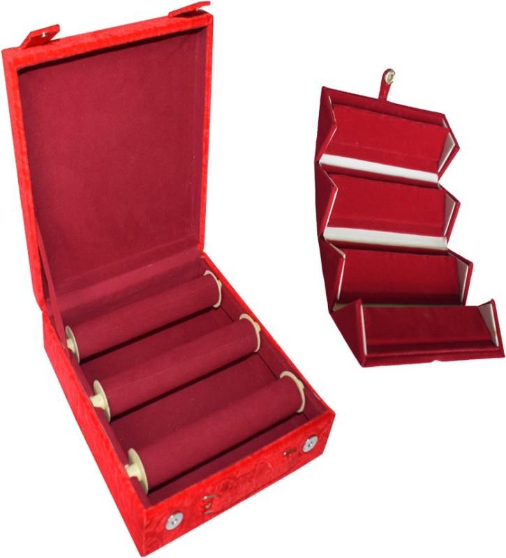 Aadhya Combo of Earring & bangle box (Maroon) Vanity Box(Maroon)