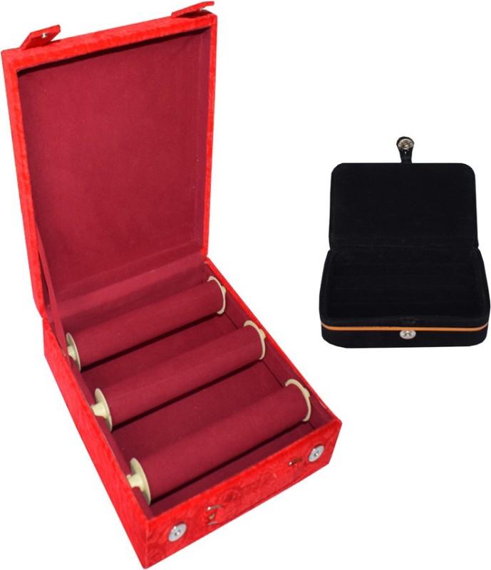 Aadhya Combo Of Ring & Bangle Box (Maroon,Black) Vanity Box(Maroon, Black)