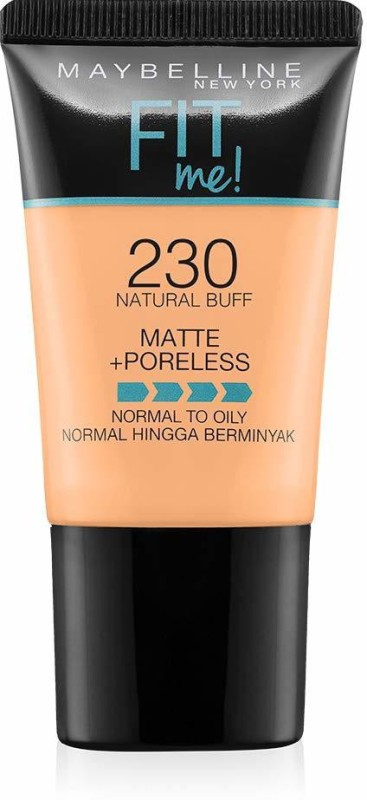 Maybelline Fit Me Matte with Poreless Foundation(230 Natural Buff, 18 ml)