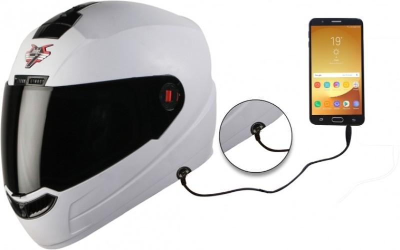 Steelbird SBA-1 7Wings Dashing Motorbike Helmet(White)