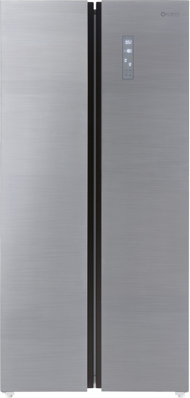 Koryo 509 L Frost Free Side by Side Inverter Technology Star Refrigerator(Silver, KSBS549INV)