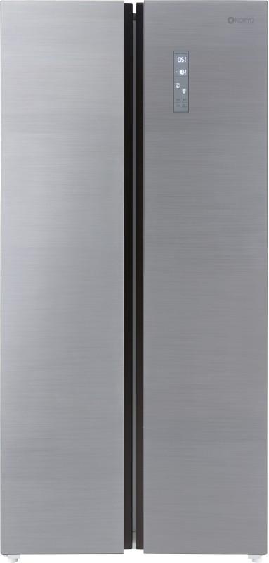 Koryo 509 L Frost Free Side by Side Inverter Technology Star Refrigerator(Silver, KSBS549INV)