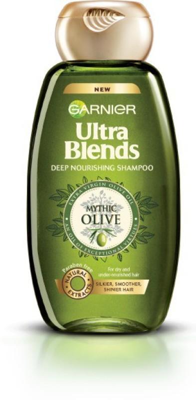 Garnier Ultra Blends Shampoo, Mythic Olive(360 ml)