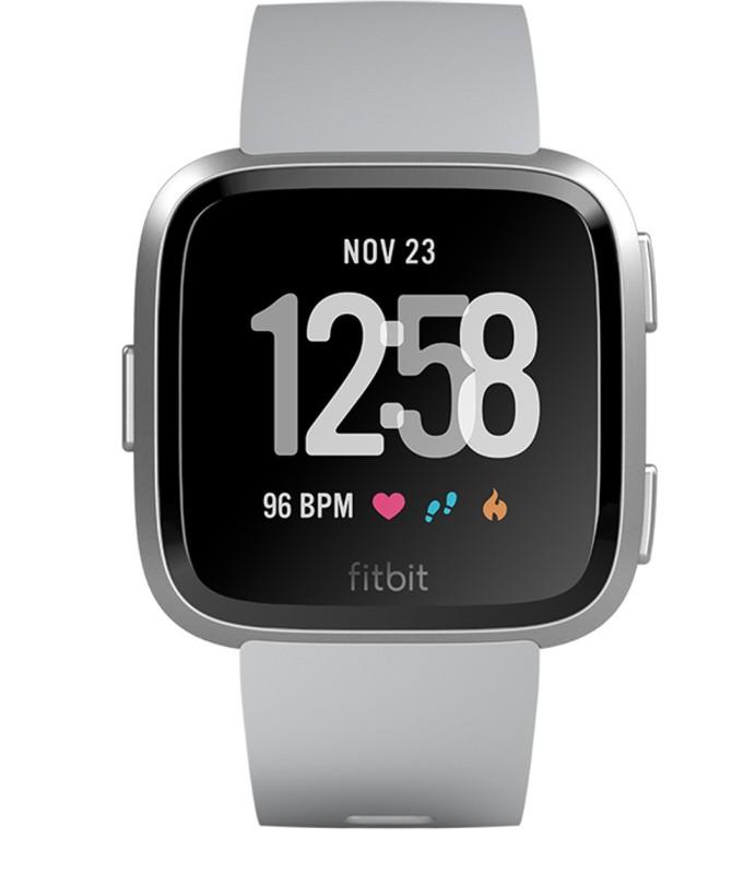 Fitbit Versa Smartwatch(Grey Strap Regular)