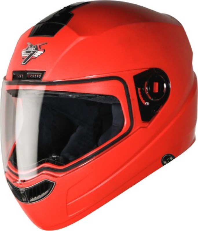 Steelbird SBA-1 7Wings Dashing Hands Free Motorbike Helmet(Red)