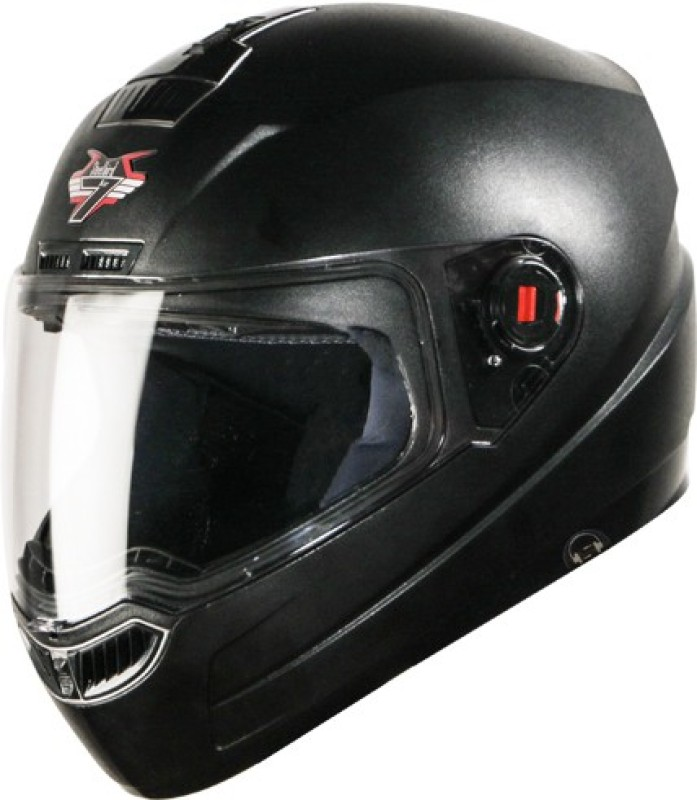 Steelbird SBA-1 7Wings Dashing Hands Free Motorbike Helmet(Black)