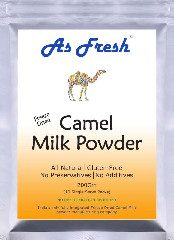 As Fresh Freeze Dried Camel Milk powder-200g (Freeze Dried, 100% Pure, Gluten Free) Milk Powder(200 g, Pack of 10)
